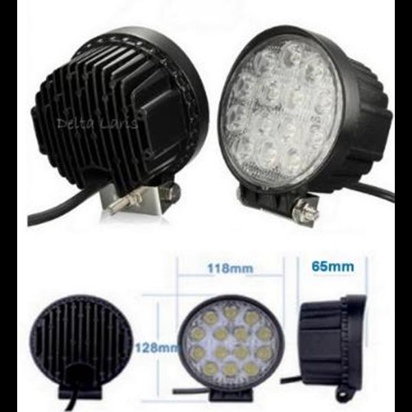 Lampu Sorot 14 Titik 42 Watt Bulat - LED 14 Mata Worklight 42 Watt Bulet