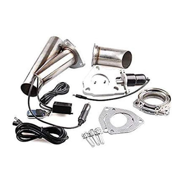 "Electric Exhaust 2.5"" Downpipe Cutout - E-Cut Out Valve System Remote"