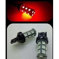 LED REM T20 4 KAKI BLITZ 18 LED Merah Strobo Kedip Lampu Bohlam 1