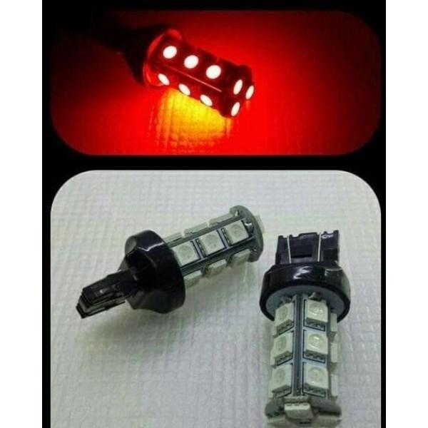 LED REM T20 4 KAKI BLITZ 18 LED Merah Strobo Kedip Lampu Bohlam