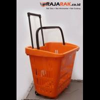 Distributor KERANJANG PLASTIK TARIK BERODA 3