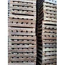 Pallet kayu ukuran 80 X 140 X 12 Cm Twoway single