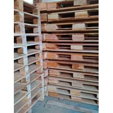 Pallet kayu ukuran 100 X 140 X 14 Cm Twoway double