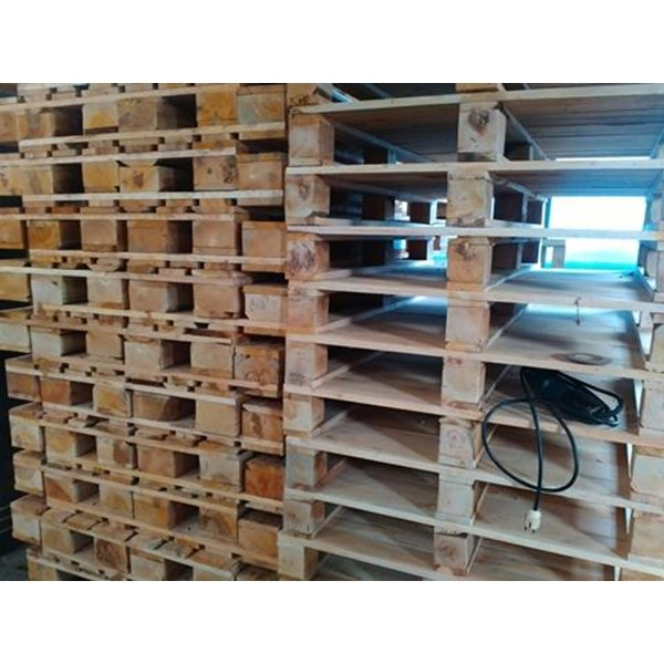 Pallet kayu ukuran 110 X 130 X 16 Cm Fourway