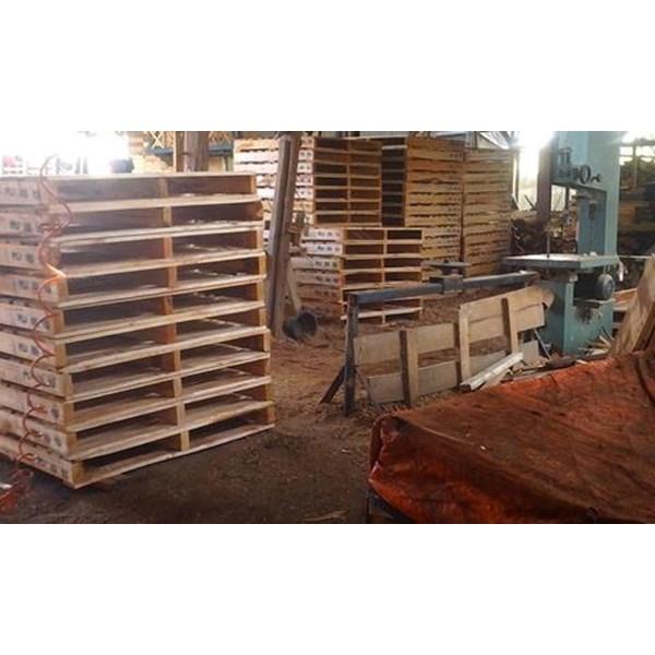 Pallet kayu ukuran 130 X 150 X 16 Cm Fourway
