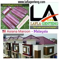 Jual Genteng Keramik asiana maroon 10 pcs / m2
