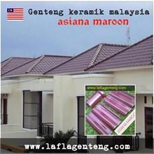 Genteng Keramik asiana maroon 10 pcs / m2