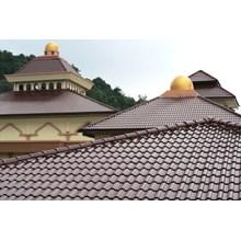 Genteng Keramik asiana maroon 10 pcs 1 m2