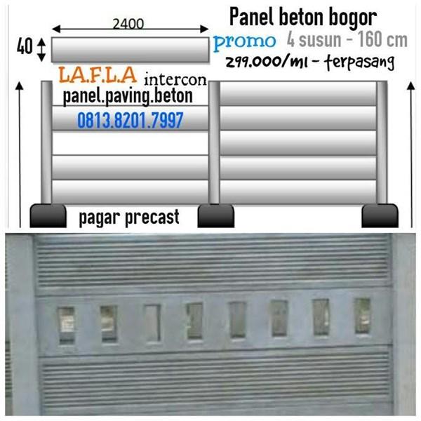 panel beton precast terpasang