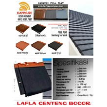 Kanmuri flat roof tiles