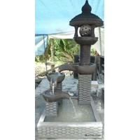 Kerajinan Batu Air Mancur 3 Tingkat Bola Berputar