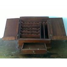 Kotak Dokumen Kayu Jati Ala Peranakan