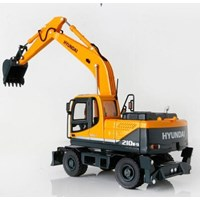Jual Miniatur Alat Berat Hyundai Wheel Excavator