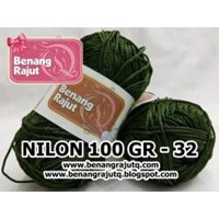 Jual NILON 100 GRAM - 32 (HIJAU LUMUT TUA)