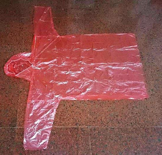 Jual Jas Hujan Plastik Merah Harga Murah Jakarta Oleh PT