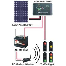 Solar Traffic Light