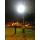 Tiang Lampu Tenaga Surya 7m Okta Single Arm Galvanish 1