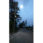 Pole Street Light / PJU 5m Octa Single Arm Solar Cell Gavanish  4