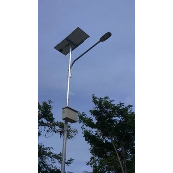 Pole Street Light / PJU 5m Octa Single Arm Solar Cell Gavanish