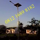 Tiang Lampu  Tenaga Surya 7 meter Okta Single Arm Galvanish 1