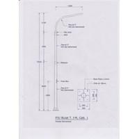 Tiang Lampu Jalan 7 meter Parabolic