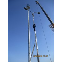 20m high mast floodlight pole