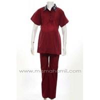 Jual Baju Hamil Setelan Pende Blueberry STJ 56 Merah Code : STJ 56 A