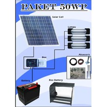 Solar Power Panel package Plts 50 Wp solar power Package Set 50Wp Shs Set of Plts