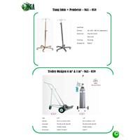 Tiang Infus + Pemberat-SGA-058 & Trolley Oksigen 6 M³ & 1 M³ -SGA-059
