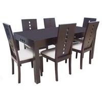 Teak dining tables, minimalist set of Stairs Upholstery 6 k