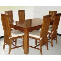 Teak dining table sets Minimalist Camelia Channel 6 k