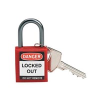 Brady 143150 Red Compact Safety Padlock 1