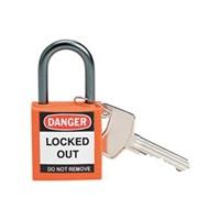 Brady 143154 Orange Compact Safety Padlock 1