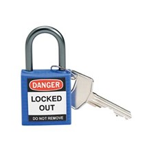 Brady 143156 Blue Compact Safety Padlock