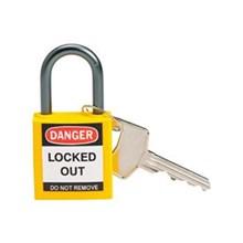 Brady 143158 Yellow Compact Safety Padlock