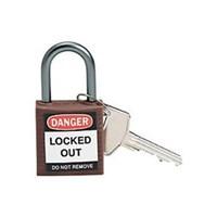 Brady 143160 Brown Compact Safety Padlock 1