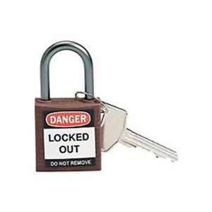 Brady 143160 Brown Compact Safety Padlock