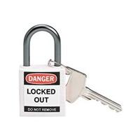 Brady 143162 White Compact Safety Padlock 1