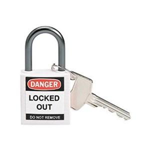 Brady 143162 White Compact Safety Padlock