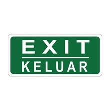 Safety Sign Exit Keluar Glow In The Dark