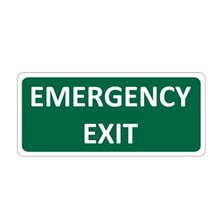 Safety Sign Emergency Exit Glow In The Dark