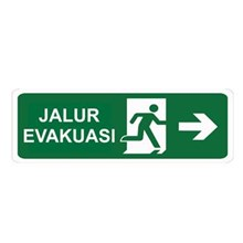 Safety Sign Jalur Evakuasi Kanan Glow In The Dark