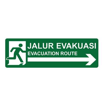 Sell Safety Sign Evacuation Route Kanan Glow In The Dark