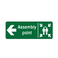 Safety Sign Assembly Point Left Direction Glow In The Dark