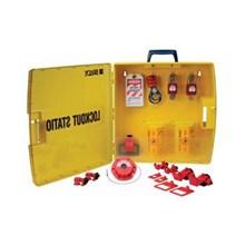 Brady 105940 Ready Access Electrical Lockout Station Kit with 6 Safety Padlocks