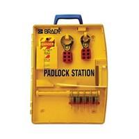 Brady 105929 Ready Access Padlock Station with 5 Steel Padlocks