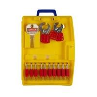 Brady 105930 Ready Access Padlock Station with 10 Safety Padlocks