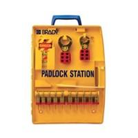Brady 105931 Ready Access Padlock Station with 10 Steel Padlocks