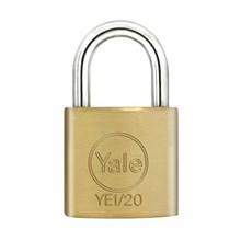 Yale Padlock YE1-20 Essential Series Indoor Brass Standard Shackle 20mm