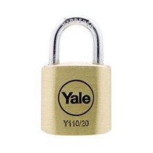 Yale Padlock Y110-20-111 Classic Series Outdoor Solid Brass 20mm with Multi-pack